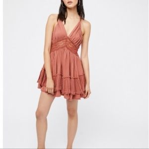 NEW! Free People 200 Degree Lace Mini Dress - Sz L